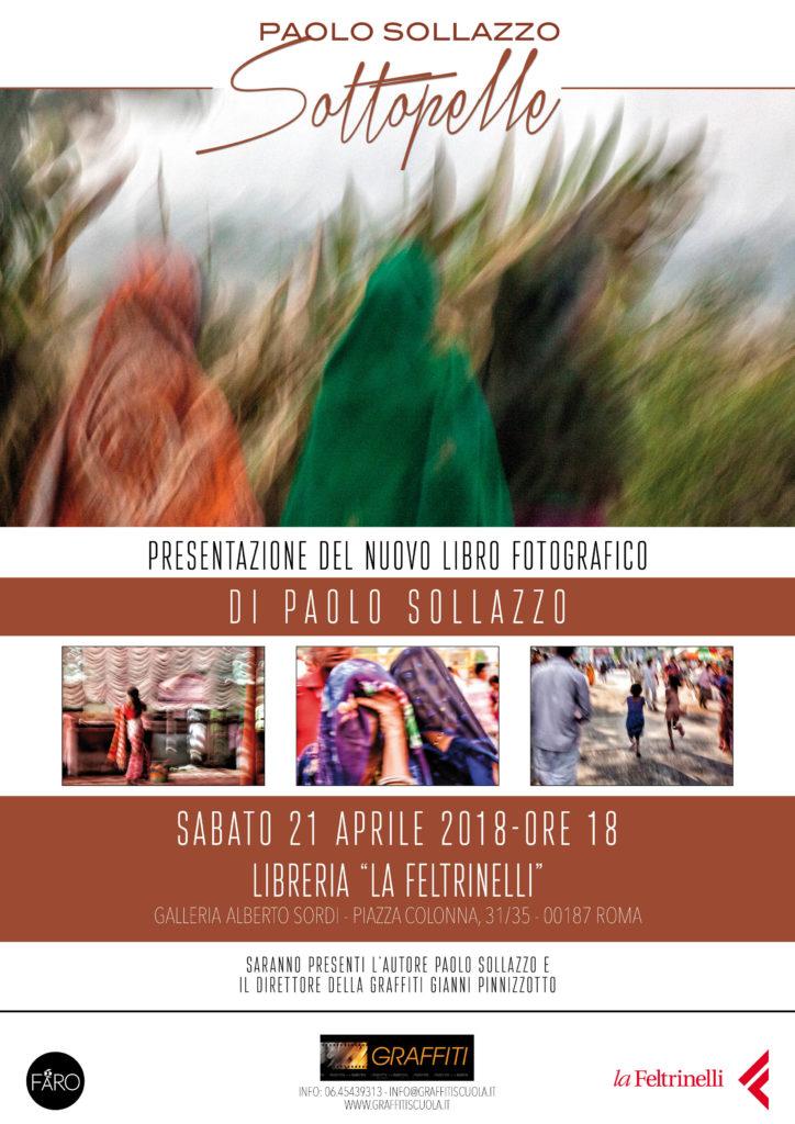 """Presentazione del nuovo libro fotografico """"SOTTOPELLE"""" di Paolo Sollazzo - Edizione Graffiti"""